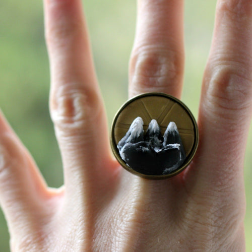 3D Mountain View Ring - Rings - [variant_title] - [option1] - [option2] - [option3] - Uprise Jewelry