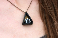 Small Triangle Mountain Diorama Necklace - Unparalleledcc