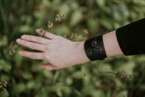 Crescent Moon and Pentacle Cuff Bracelet