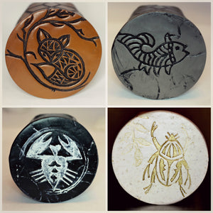 batik stamp and color options for ring box