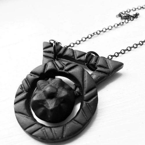 Geometric Pentacle Statement Necklace - necklace - [variant_title] - [option1] - [option2] - [option3] - Uprise Jewelry