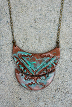 Patina Bronze Double Crescent Long Necklace - Statement Necklaces - [variant_title] - [option1] - [option2] - [option3] - Uprise Jewelry