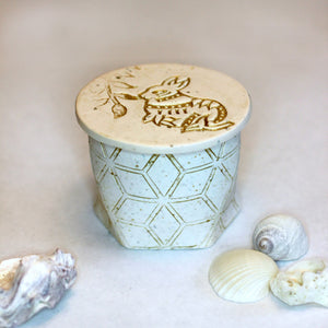 White Geometric Keepsake Jewelry Box - Unparalleledcc