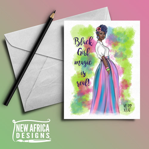 """Ebony"" Melanin Squad Greeting Card"