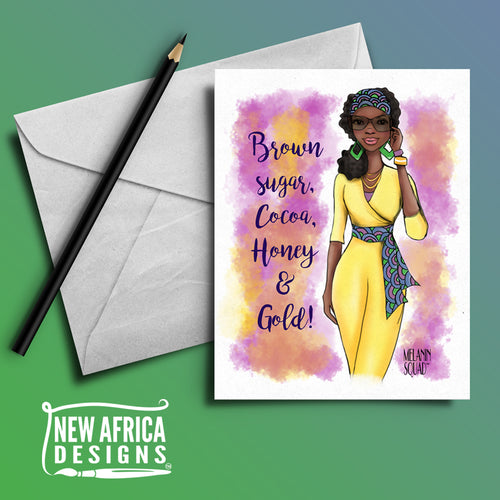 """Nura Melanin Squad Greeting Card"