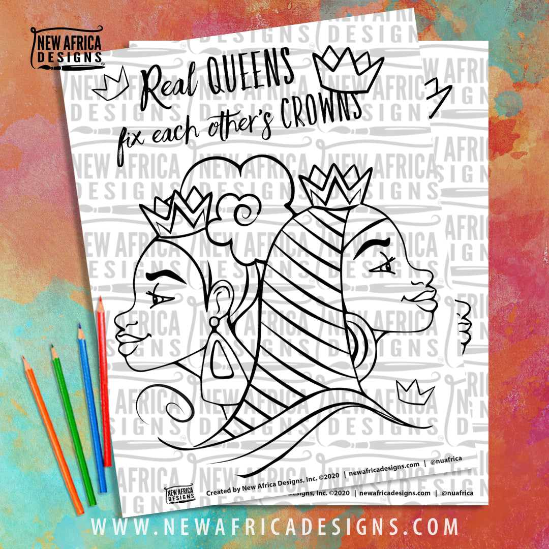 Real Queens Coloring Page