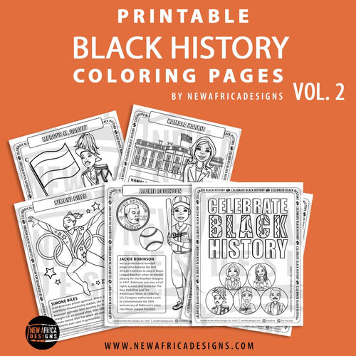 Printable Black History Coloring Pages Vol 2