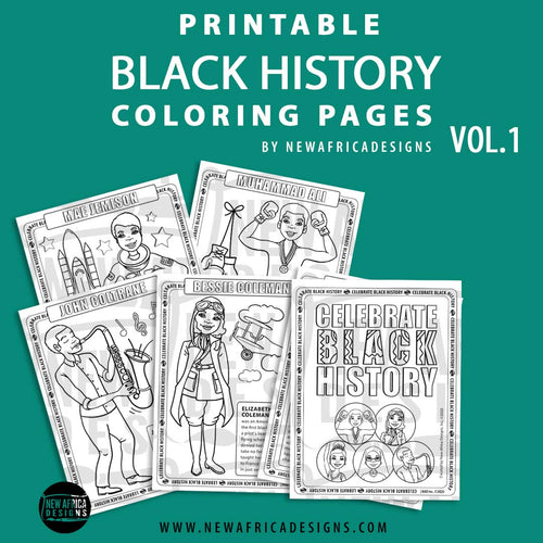 Printable Black History Coloring Pages Vol 1