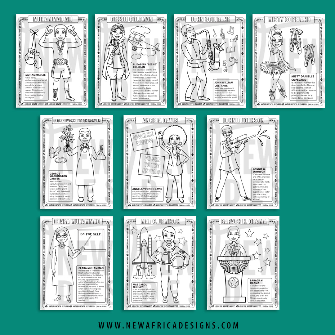 20 Free Printable Black History Month Coloring Pages - jeffersonclan | 1080x1080