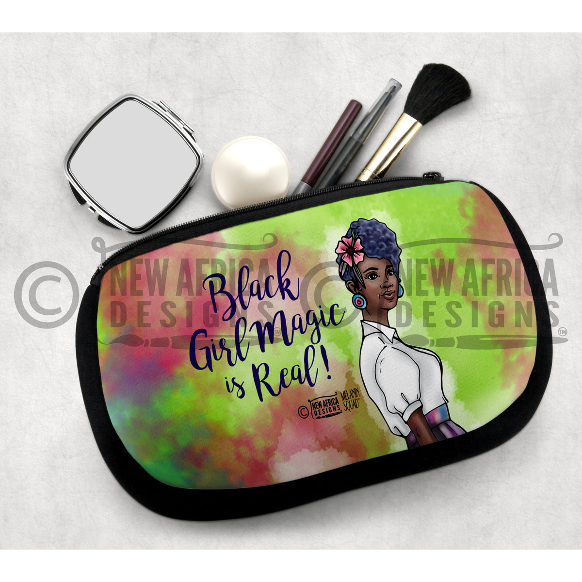 Ebony Melanin Squad Cosmetic Bag