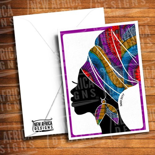 Empress Headwrap Greeting Card