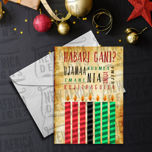 Kwanzaa Principles Greeting Card