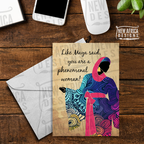Phenomenal Woman Birthday Card