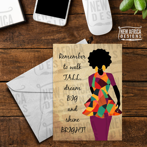 Walk Tall Encouragement Card