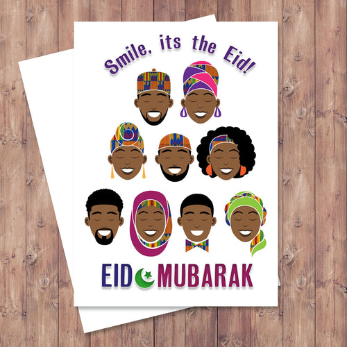 Smile, It's The Eid Greeting Card
