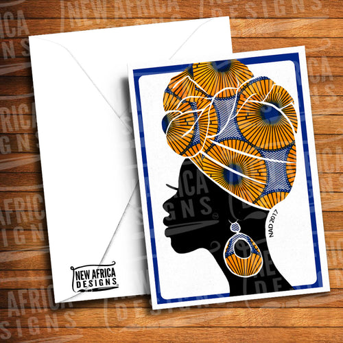 Twisted Topknot Greeting Card