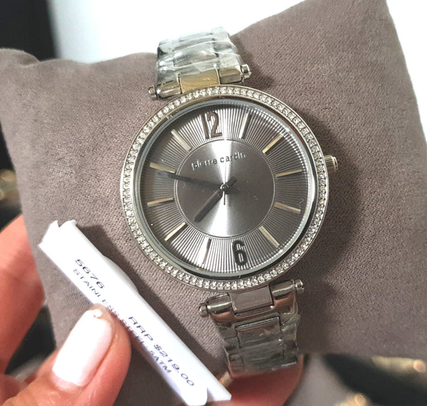 Pierre Cardin 5676 Crystal Classic Silver Ladies Watch