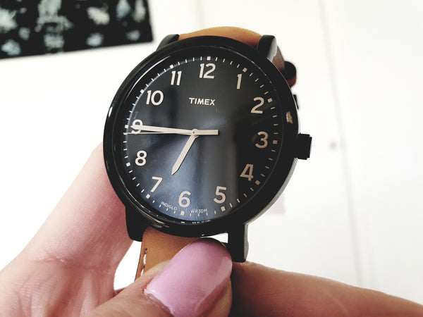 Timex IndigloT2N677 Brown Leather Mens Watch