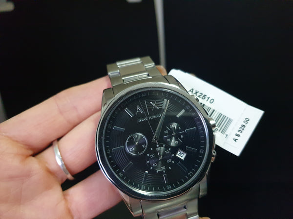 ARMANI EXCHANGE AX2504 Chronograph Black Dial Stainless Steel Men's Watch