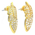 GUESS UBE21312 ELEGANT GOLD FEATHER STATION EARRINGS