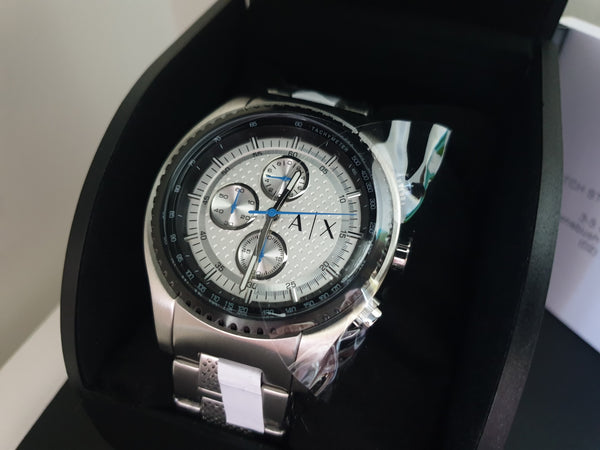 ARMANI EXCHANGE AX1602 Chronograph Silver Dial Stainless Steel Men's Watch