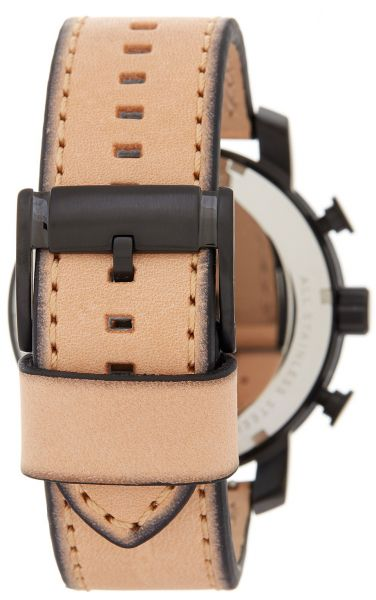 Fossil Gage BQ2051 Tan Leather Black Case Men's Watch