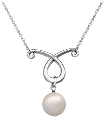 HOT DIAMONDS ETERNAL ROSE 925 STERLING SILVER NECKLACE w EARRINGS - DN090