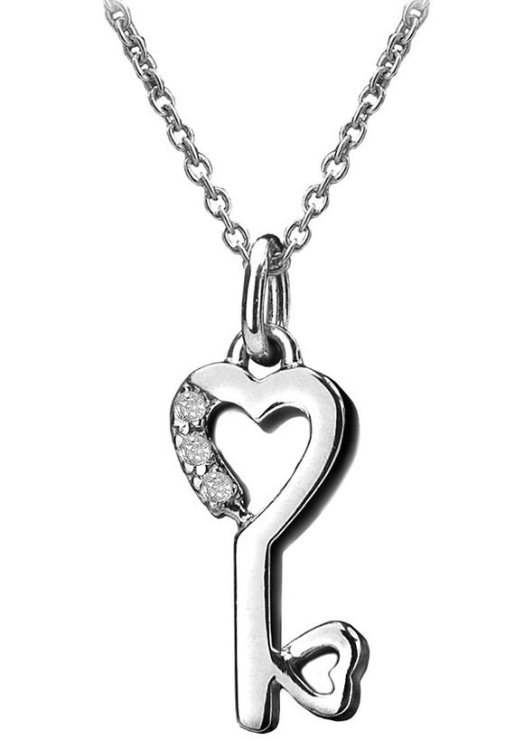 HOT DIAMONDS ETERNAL ROSE 925 STERLING SILVER NECKLACE 1.5 cm Pendant-DP259