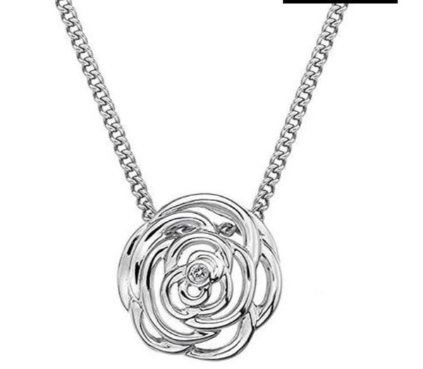 925 STERLING SILVER HOT DIAMONDS ETERNAL ROSE NECKLACE