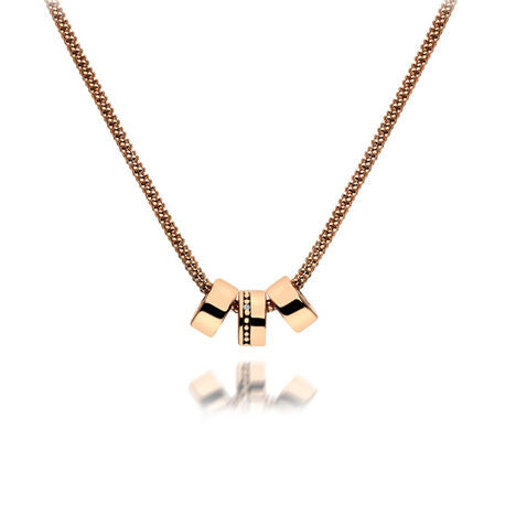HOT DIAMONDS ROSE GOLD PLATED 925 STERLING SILVER NECKLACE - DP548