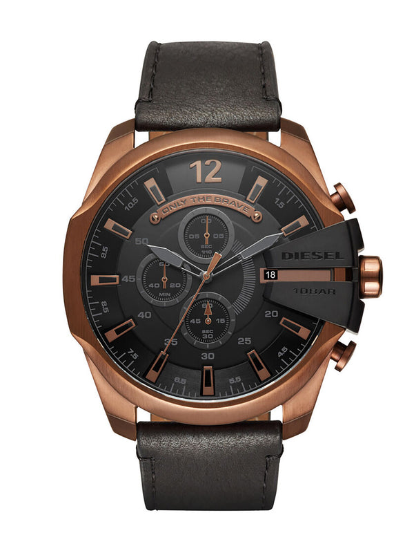 Diesel Mega Chief DZ4459 Double Down Bronze Chronograph Mens Watch