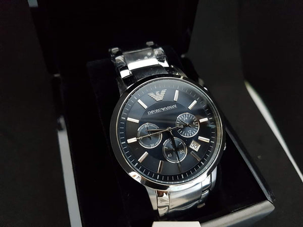 EMPORIO ARMANI AR2448 Chronograph Silver Dial Stainless Steel Men's Watch
