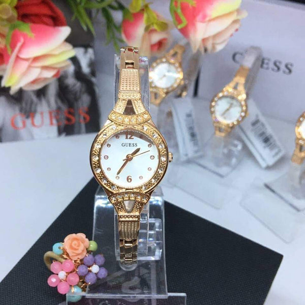 GUESS Madeline W1032L3 Rose Gold 23mm Crystal Ladies Watch