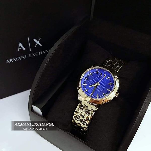 Armani Exchange AX5418 Blue Dial Ladies Watch