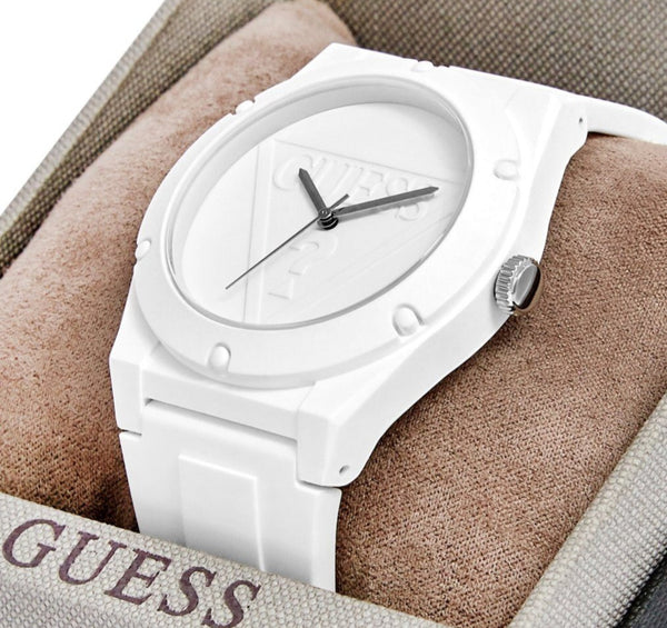 GUESS W0979L1 Guess Retro Pop Quartz White Dial & Silicone Ladies Watch