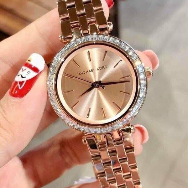 Michael Kors MK3366 Crystal Rose Ladies Watch