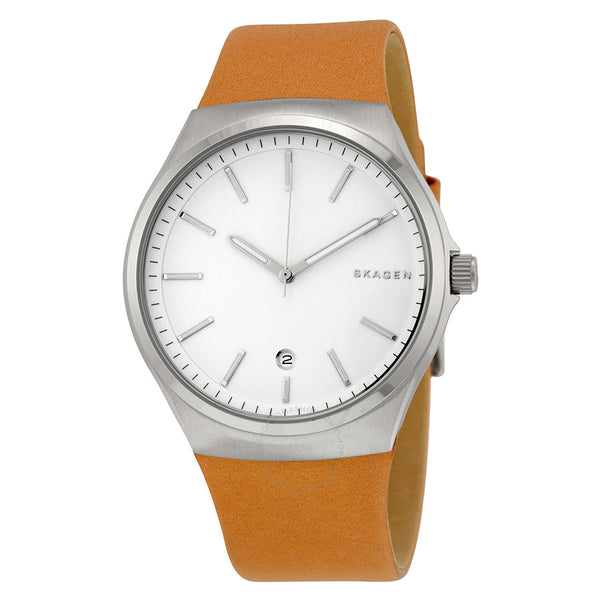 Skagen Sundby SKW6261 Slim Brown Leather Men's Watch