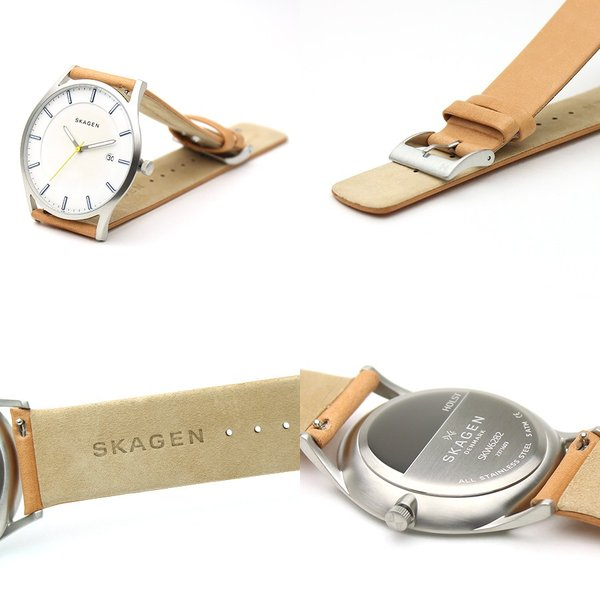 Skagen Holst SKW6282 Slim Brown Leather Men's Watch