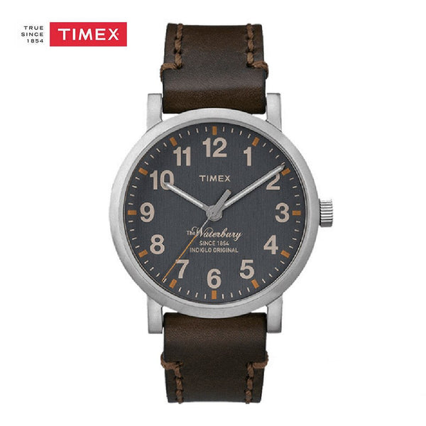 Timex Indiglo TW2P58700 Brown Leather Mens Watch