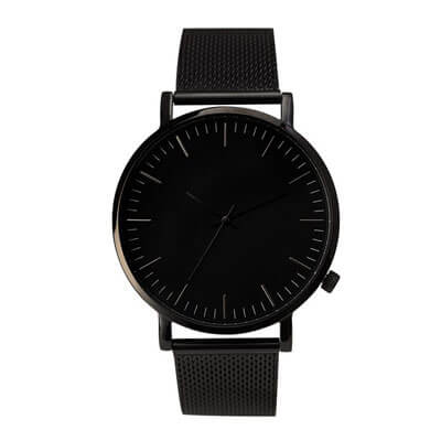 Thread Etiquette Slim Black Dial Steel Mesh Men's Watch ~ Daniel Wellington