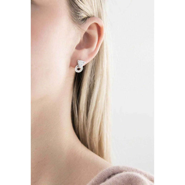GUESS STUDS EARRINGS UBE71505 SILVER WITH CRYSTAL