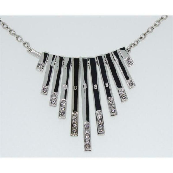 Guess Necklace Rhodium Plated UBN82079 with Crystal