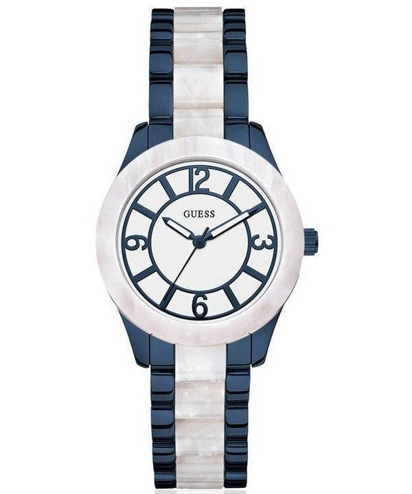 GUESS W0074L3 Goddess Blue & Marble Ladies Watch