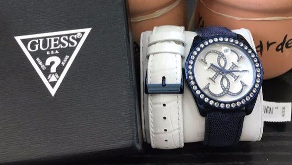 Guess W0541L1 Blue Twist Guess Logo Dial interchangeable Ladies Watch