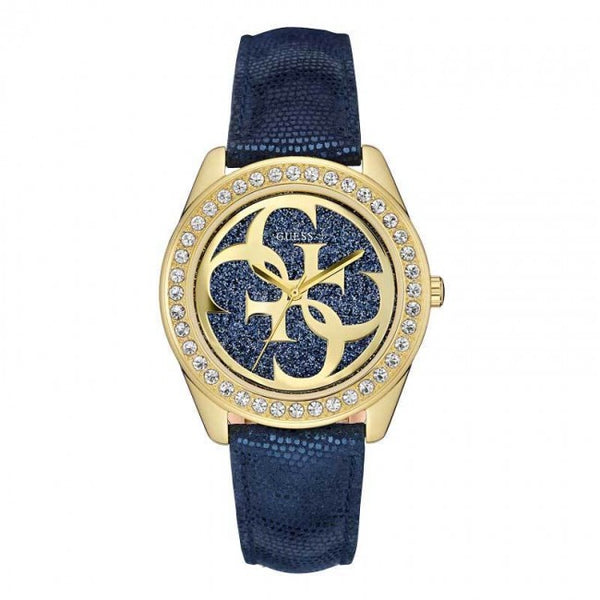 Guess W0627L2 Blue G Twist Guess Gold Logo Dial Ladies Watch