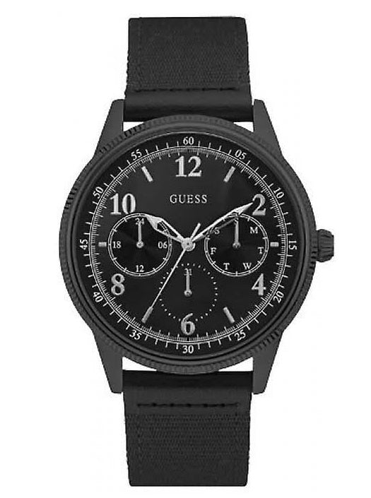 "GUESS W0863G3 ""AVIATOR"" Multifunction Black Dial Nato Strap Men's Watch"