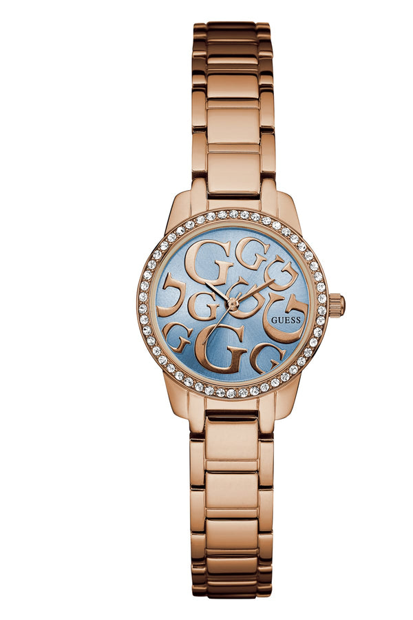 Guess Greta W0891L3 Rose Gold 27mm Crystal Ladies Watch