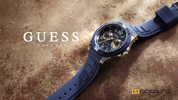 Guess W0967G2 Tread Multifunction Blue rubber Mens Watch