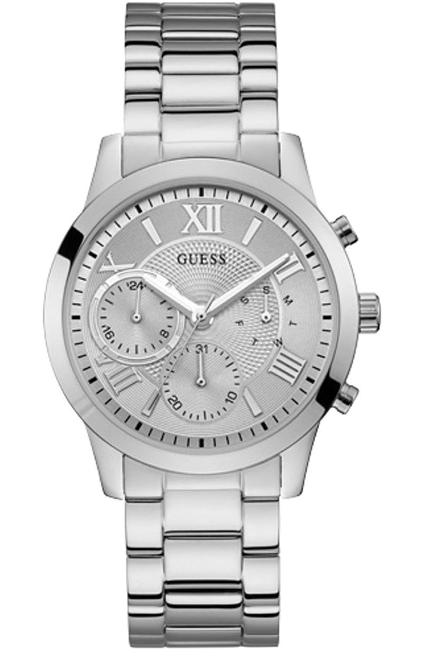 Guess  W1070L1 Solar Silver Multifunction Dial Ladies Watch