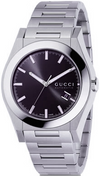 GUCCI YA115201 PANTHEON MEN'S BLACK ANTHRACITE DIALWATCH